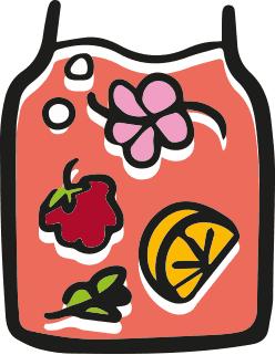 ikona informacji o tym jakie są dodatki smakowe do kombuchy, kwiaty i owoce