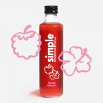 butelka simple kombucha o smaku maliny i hibiskusa